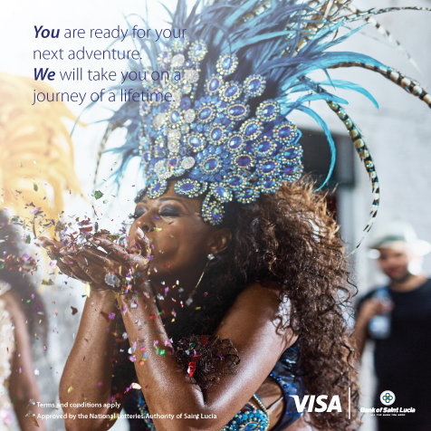 Use your BOSL Visa Credit Card for a chance to go to Trinidad Carnival!