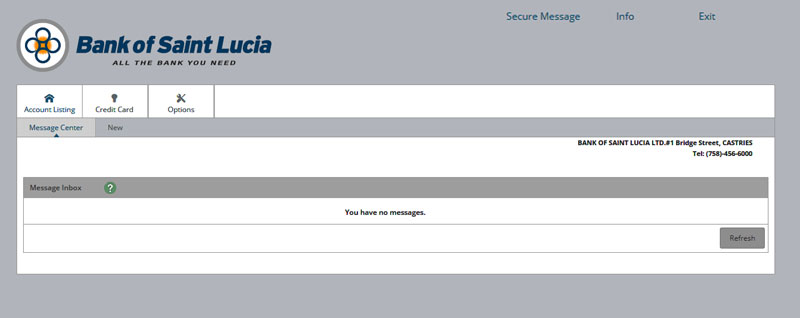 Secure Message Feature